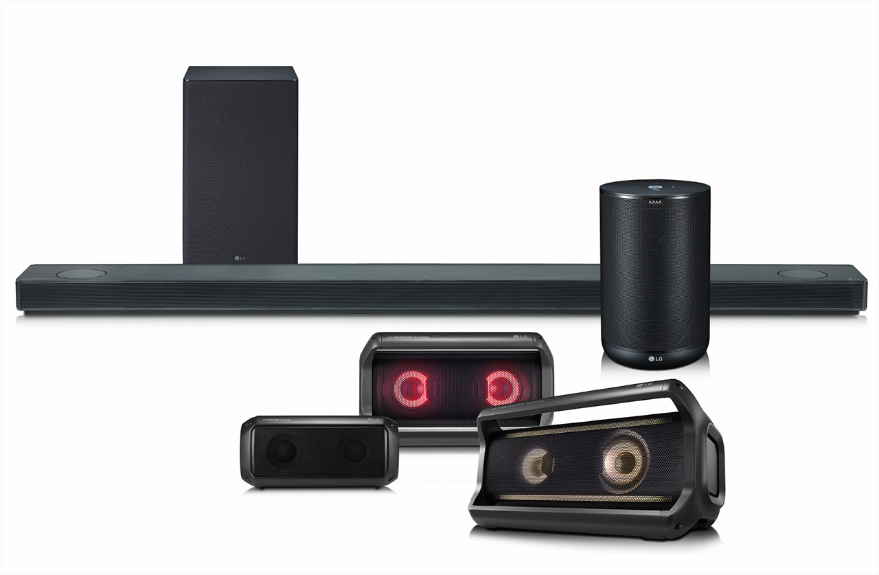 LG SK10Y Soundbar und LG ThinQ Speaker mit Meridian-Technik