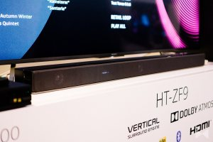 Sony HT-ZF9 mit SA-Z9R: Dolby-Atmos-Soundbar mit Wireless-Surround