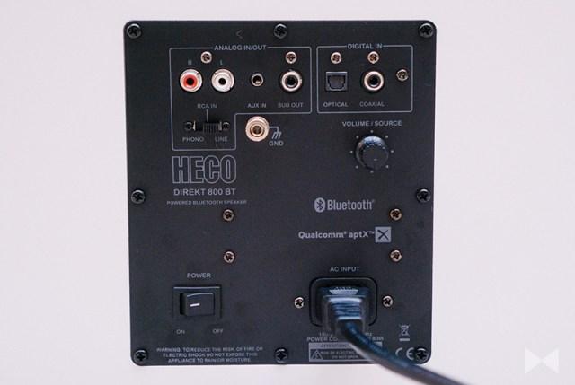 Heco Direkt 800 BT Anschlüsse analog digital Bluetooth