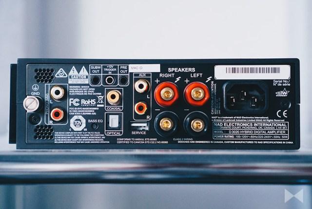 NAD D 3020 V2 Anschlüsse am DAC-Amp