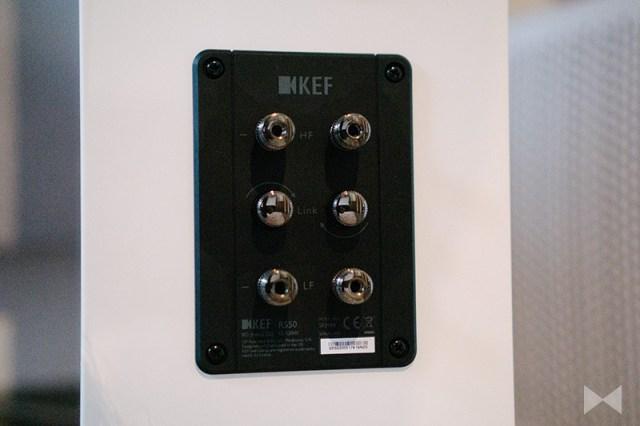 KEF R5 Bi-Wring / Bi-Amping Anschluss-Terminal