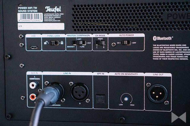 Teufel Power HiFi Anschlüsse XLR TOSLINK USB