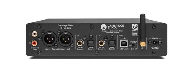 Cambridge Audio DacMagic 200M Anschlüsse