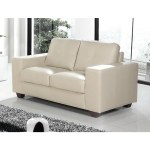 Modern Home Cream Leather 2 Seater Sofa Free Next Day Delivery