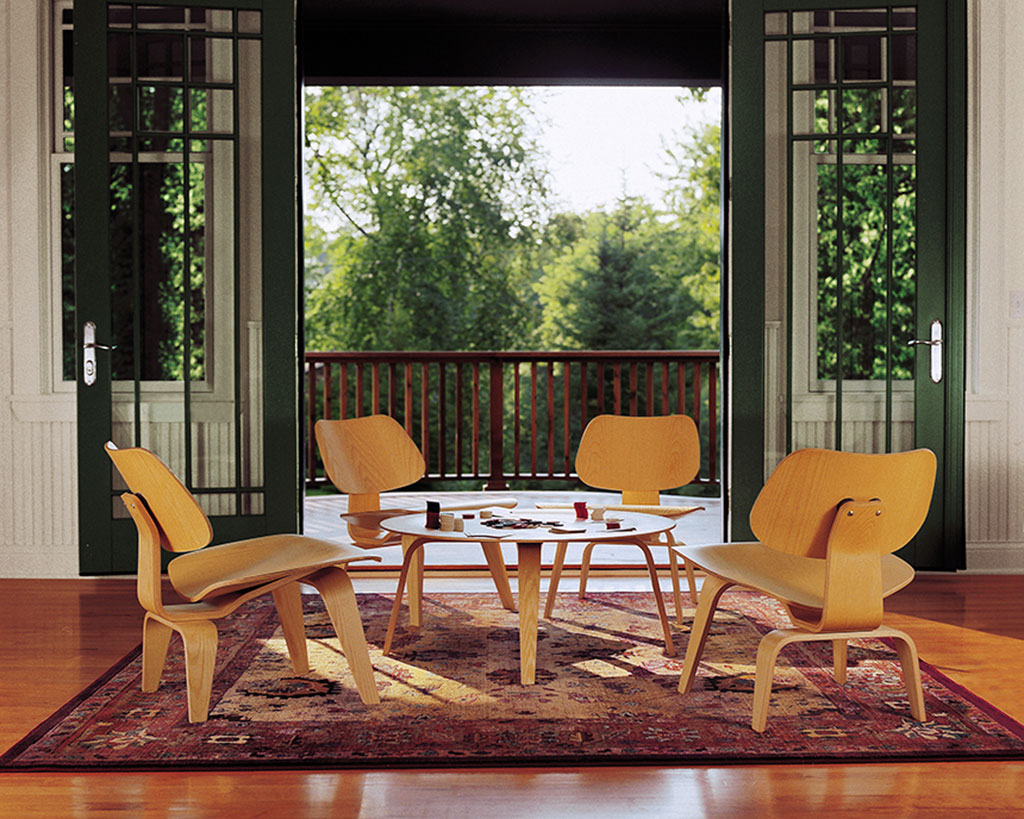 Eames Molded Plywood Lounge Chair Wood Base  Modern Home