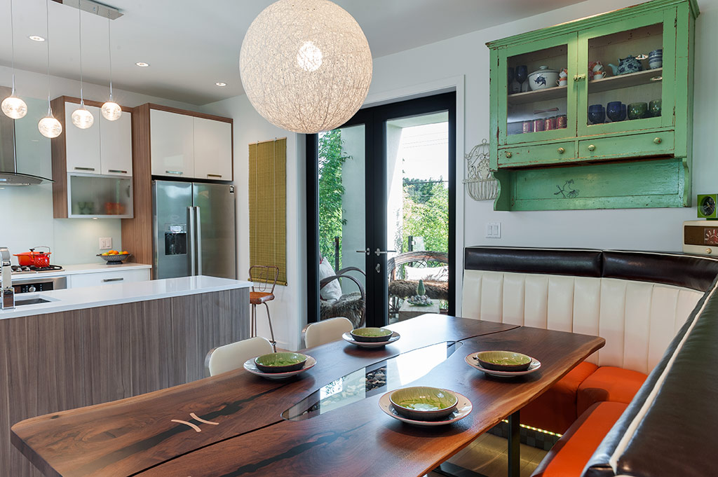 banquette kitchen chicago faucets custom seating rethinks the open plan