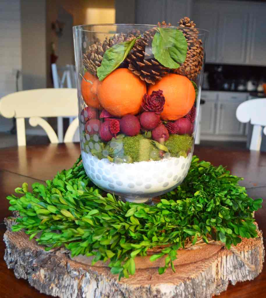 Natural Winter Holiday Centerpiece