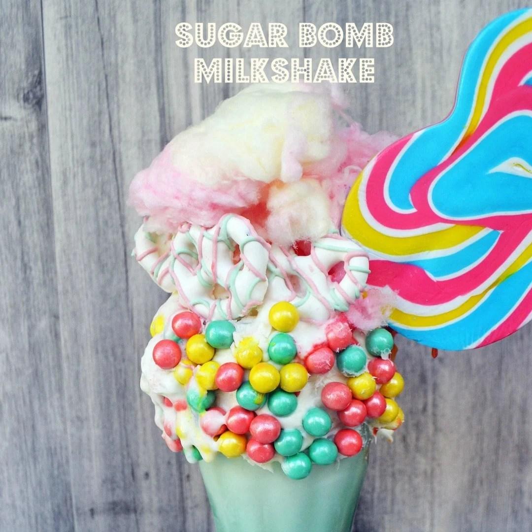 Black Tap Milkshake Copycat Recipe. Cotton Candy Sugar Bomb Milkshake by Modern Honey. www.modernhoney.com