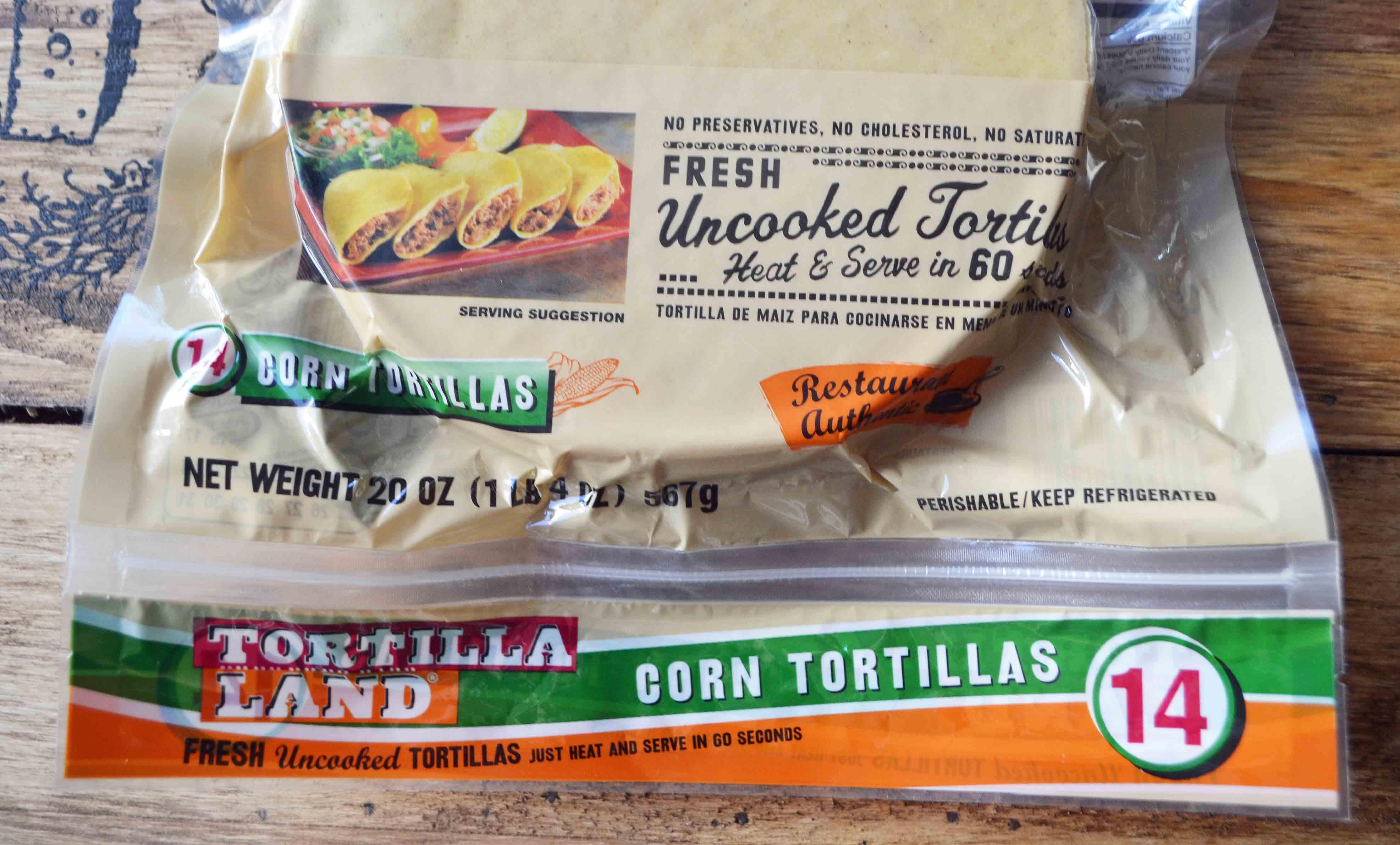 Chicken Poblano Sweet Potato Tacos by Modern Honey l Tortilla Land Uncooked Corn Tortillas - 60 calories each