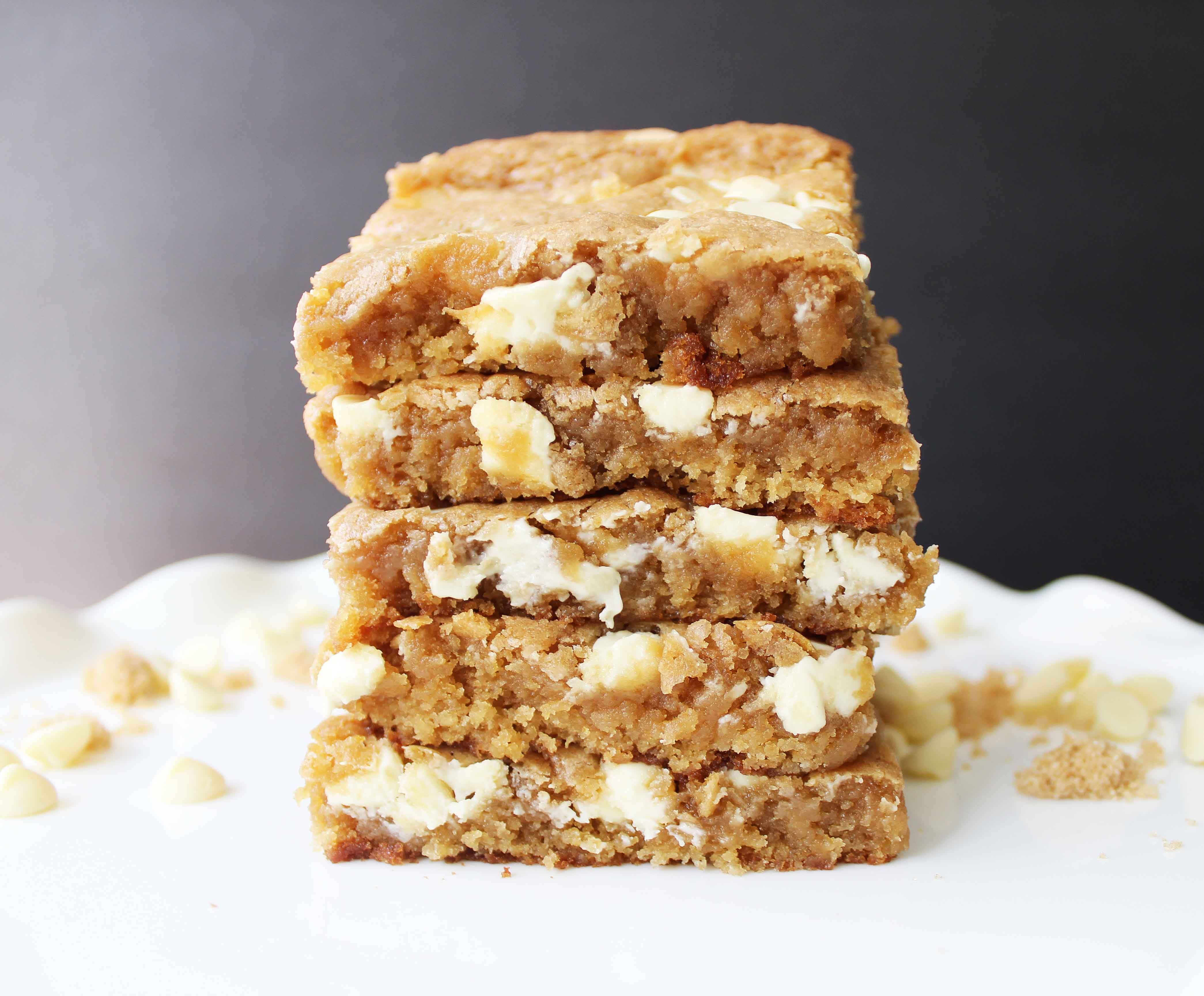 Browned Butter White Chocolate Blondies | Modern Honey