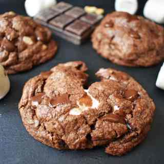 Rocky Road Fudge Cookies
