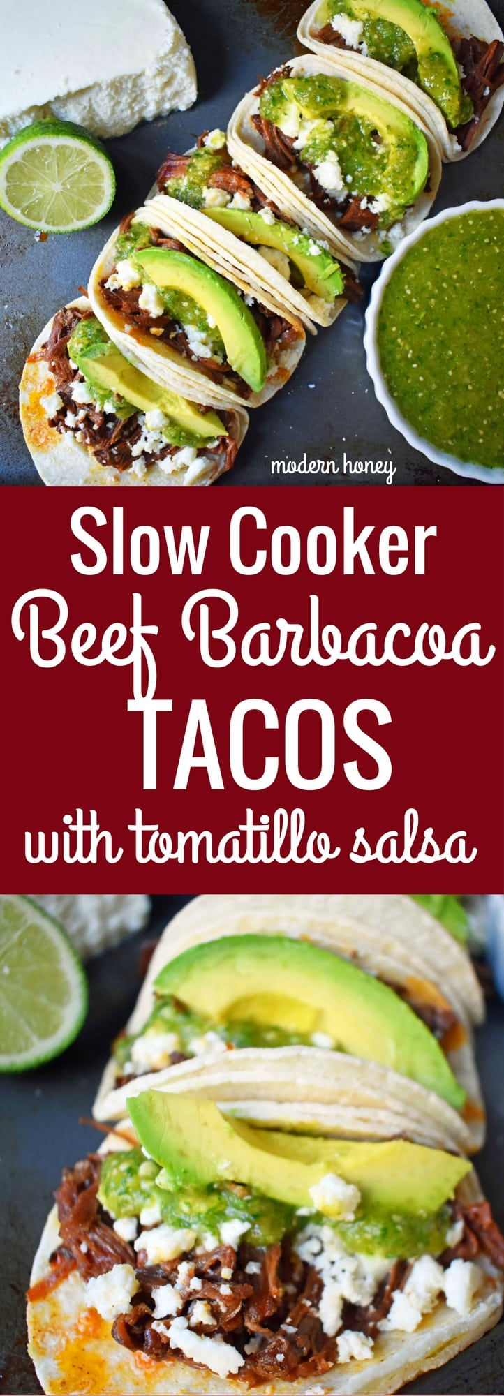 Slow Cooker Beef Barbacoa Tacos with Tomatillo Salsa ...