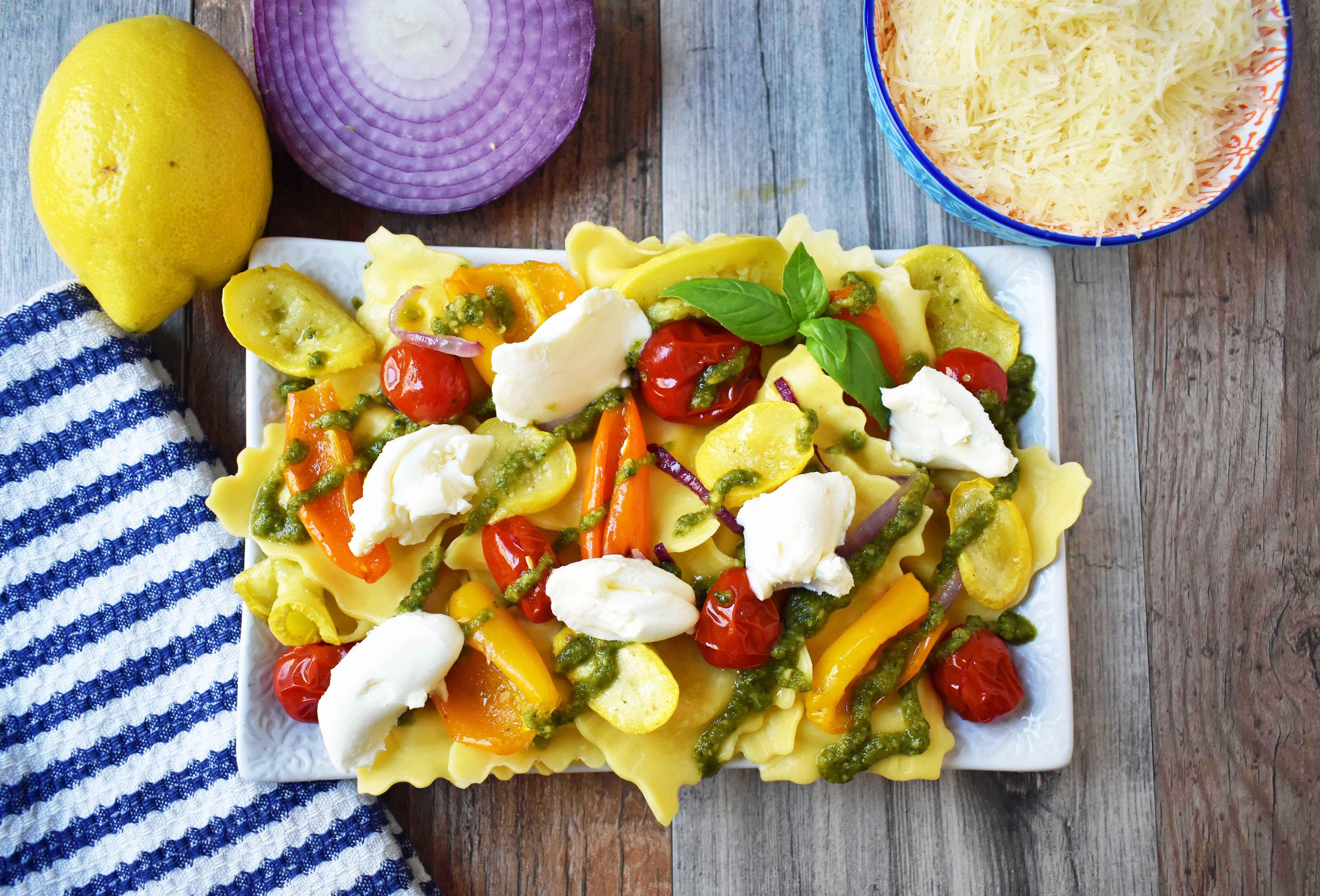 Summer Roasted Vegetable Ravioli | Modern Honey