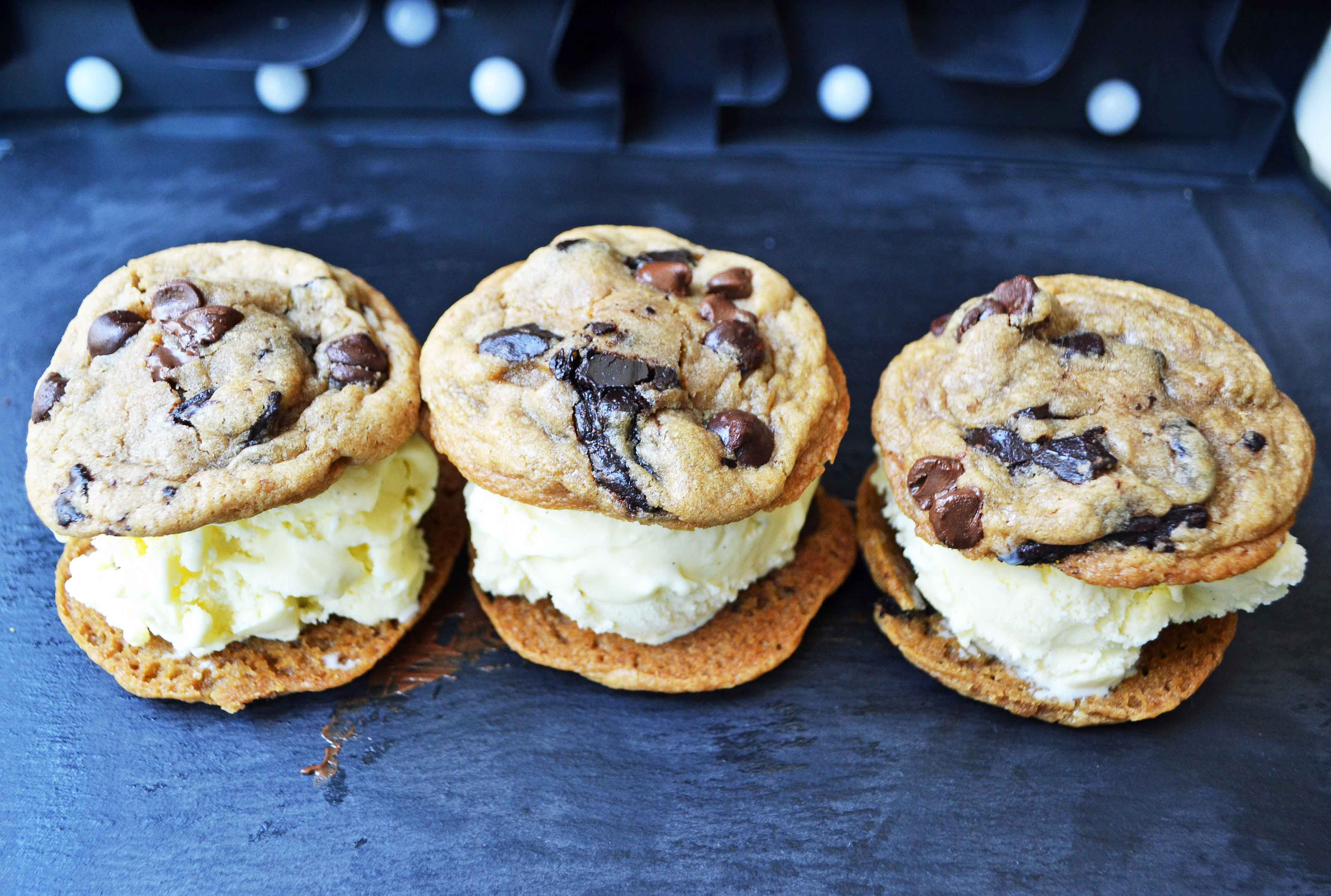 Chocolate Chip Cookie Ice Cream Sandwiches Modern Honey