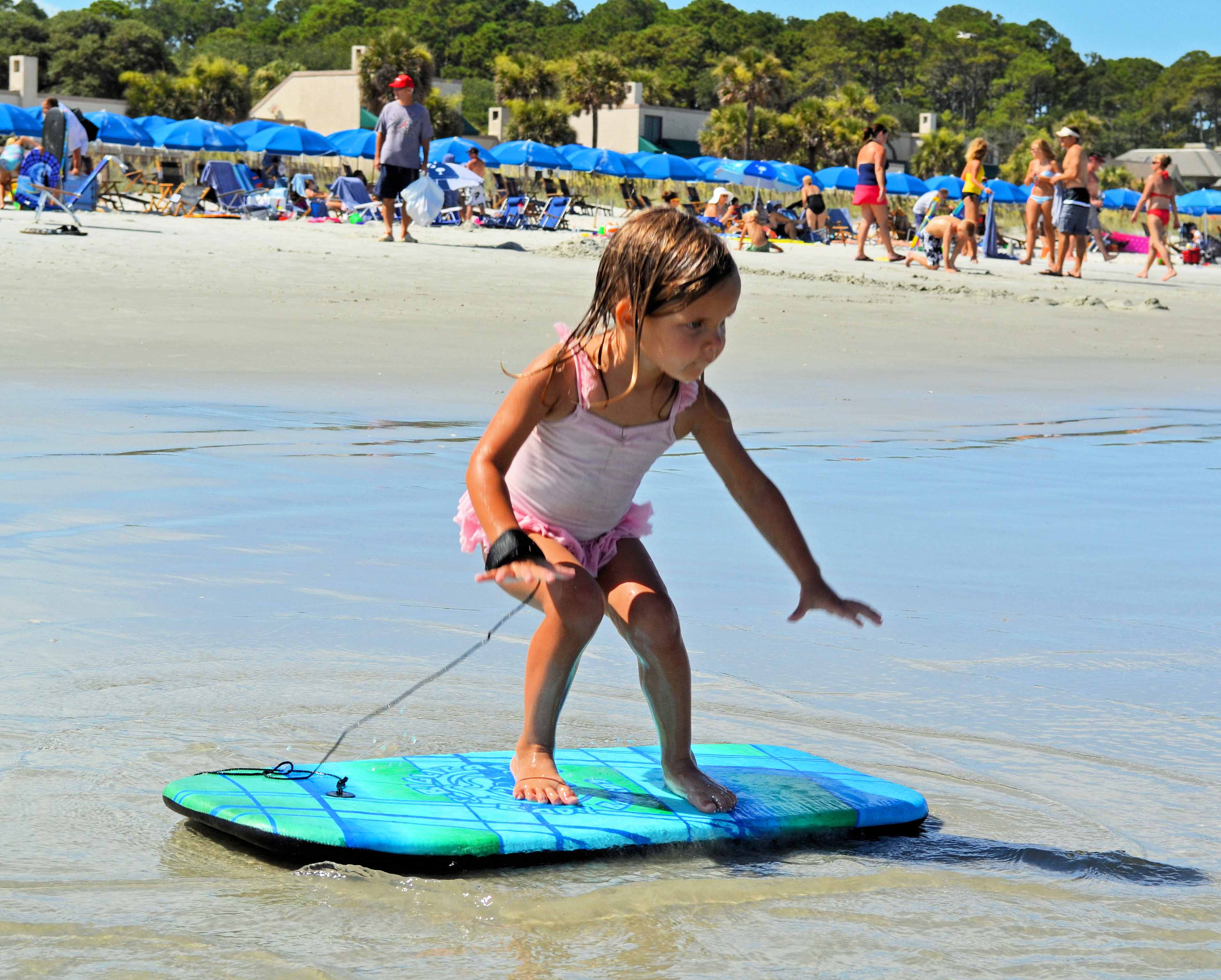 Boogie Boarding in Destin Florida. Toasted Coconut Macadamia Pancakes with Coconut Syrup by Modern Honey.