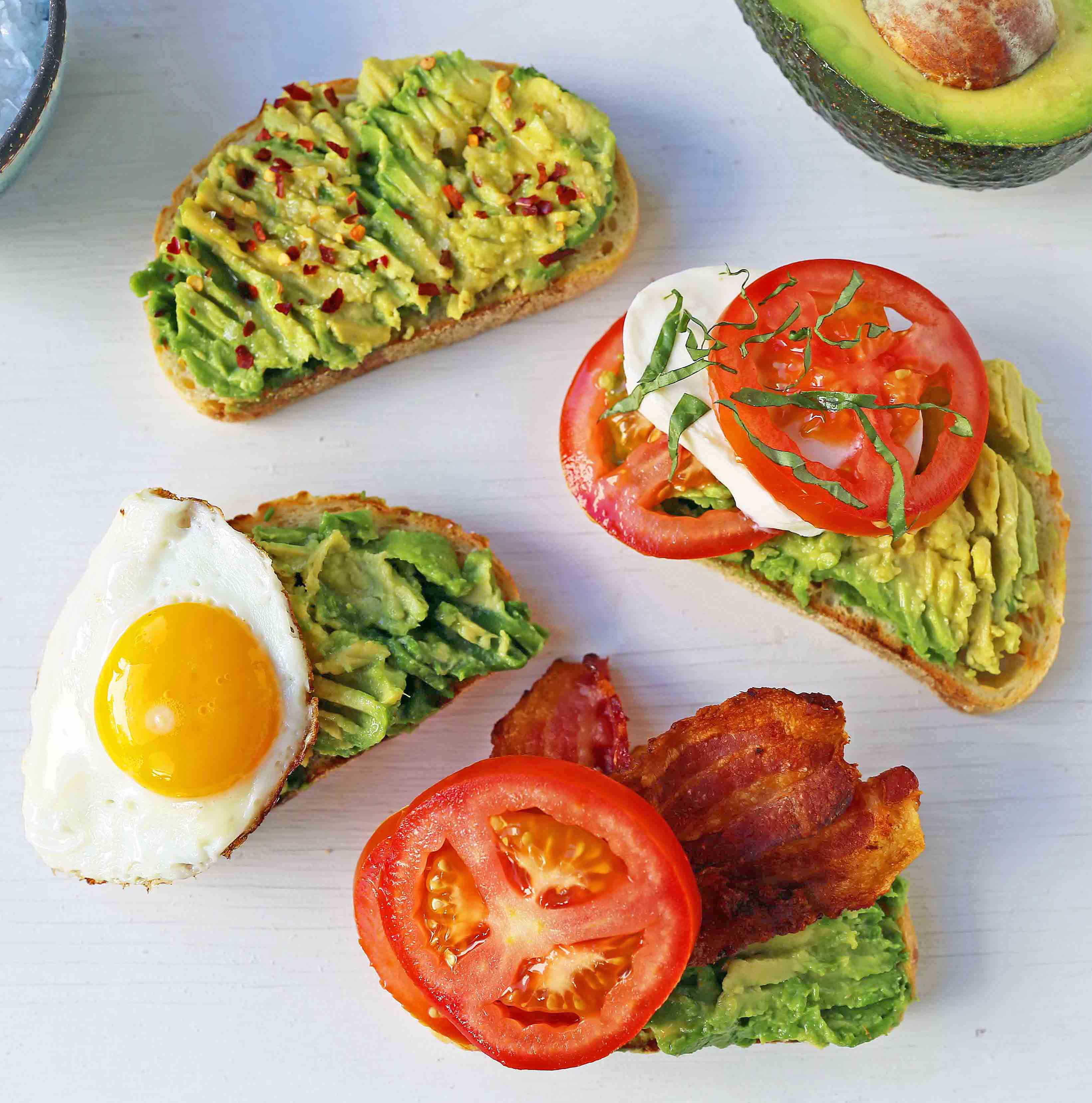 avocado toast 4 ways