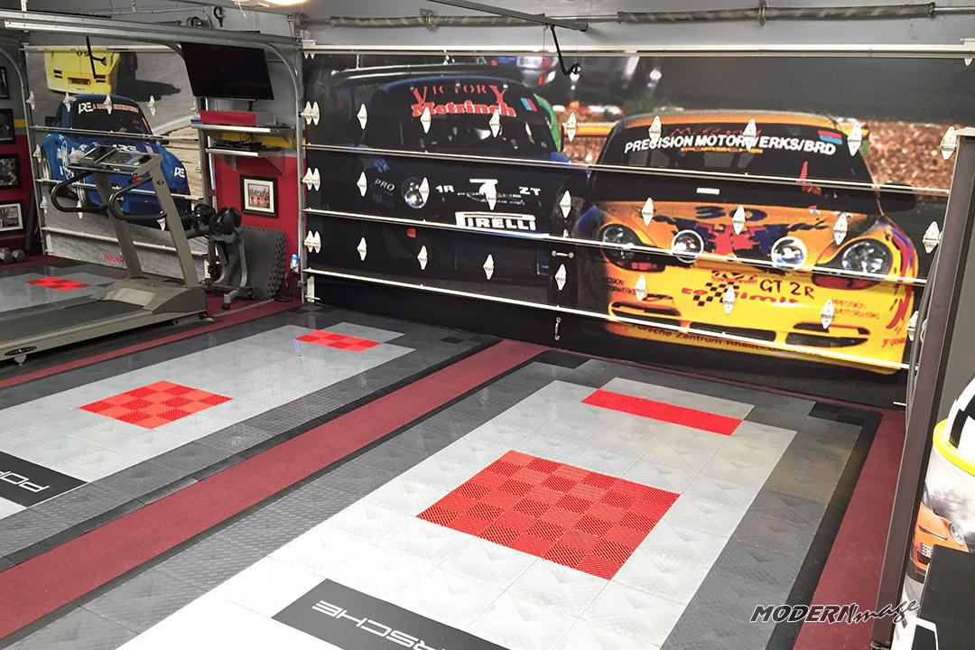 Garage door wrap modern image - Garage door vinyl wrap ...