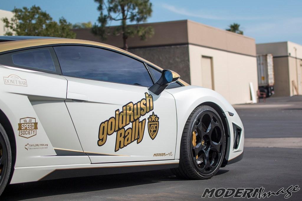 Modern Image goldRush Rally Lamborghini Gallardo Satin Pearl White Wrap 12