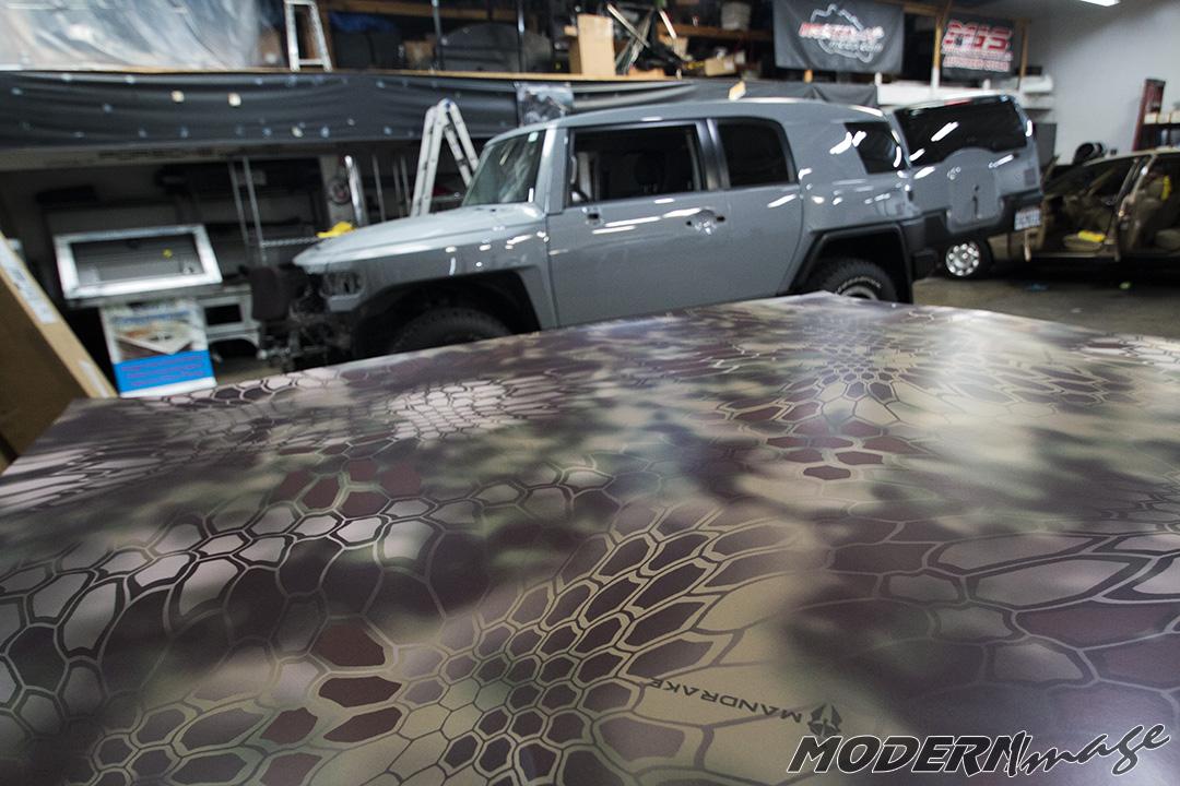 Kryptek Camo Car Wrap Fj Cruiser Modern Image