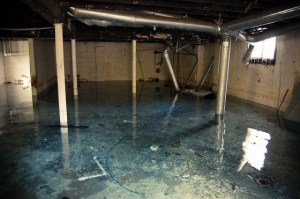 basement wet water damage