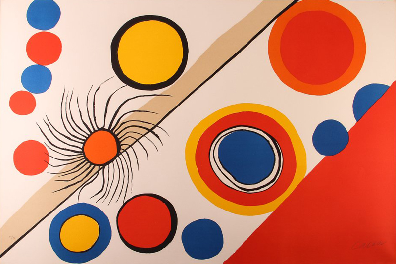 Alexander Calder Spiders Nest Lithograph For Sale