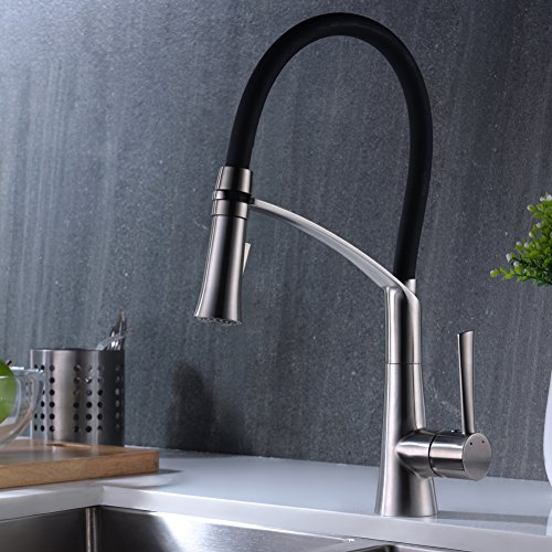 Crea Modern Kitchen Faucet Stainless Steel Single Lever Pull Down Sprayer Kitchen Faucet Basin Sink Mixer Tap Modern Kitchen Faucet