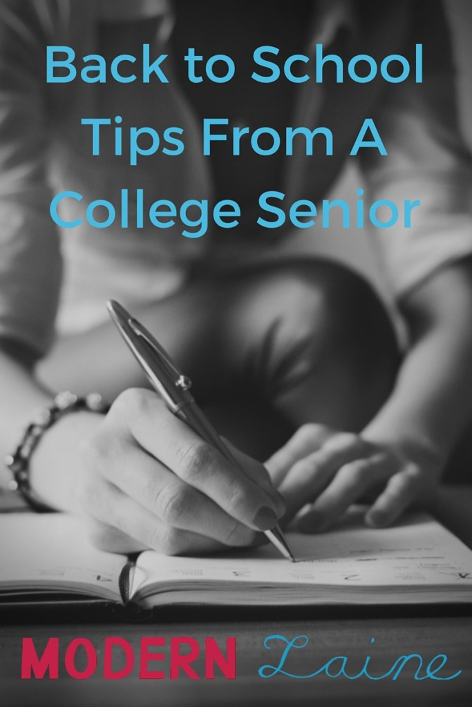 Back To School Tips From A College Senior