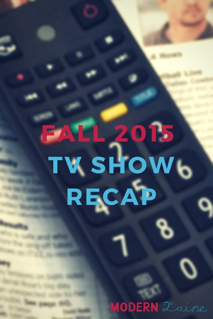 Recap Fall 2015
