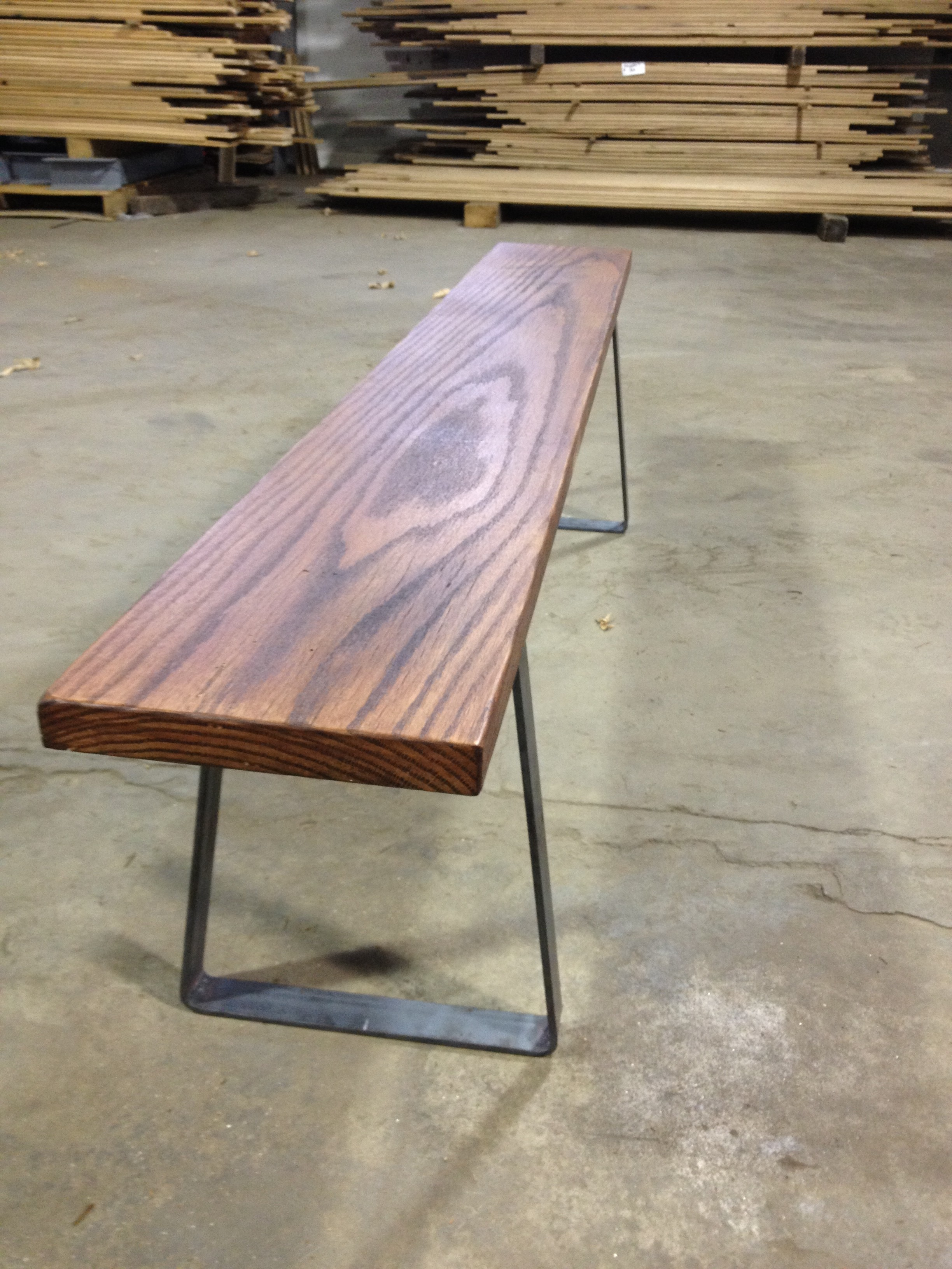 Custom Flat Bar Bench Legs For Tables And Benches