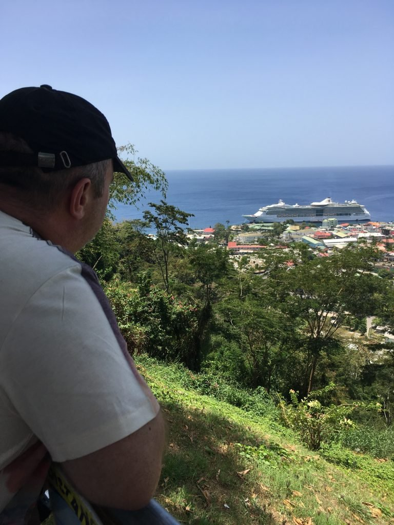 Viewing Jewel of the Seas in Dominica