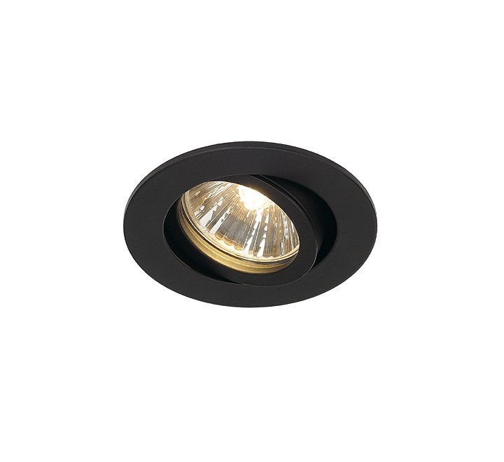 slv 1001980 new tria 68 adjustable downlight matt black dimmable requires gu10 lamp