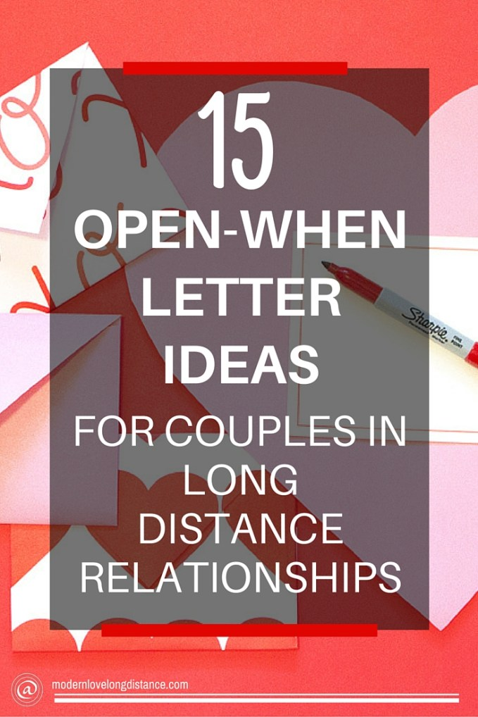 diy long distance gifts open when letters
