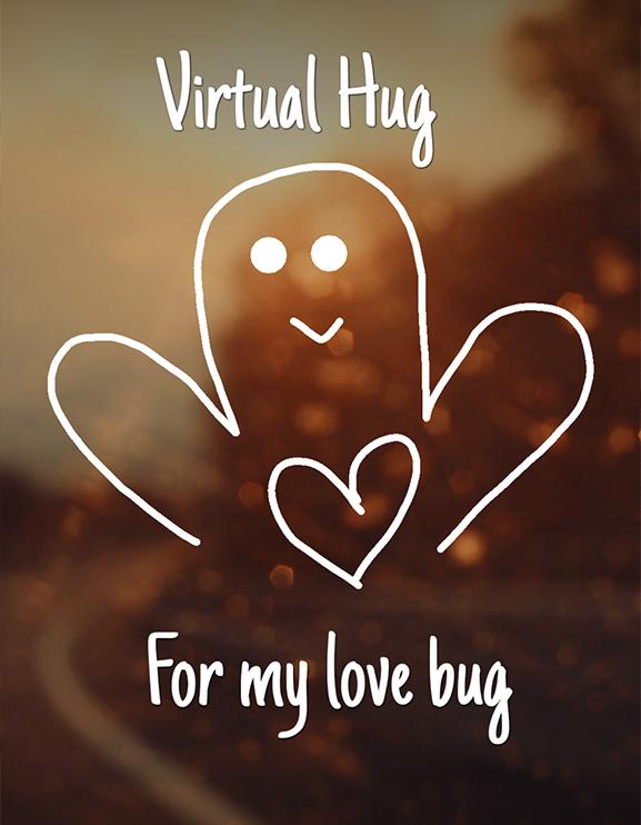 Virtual hug Sarah