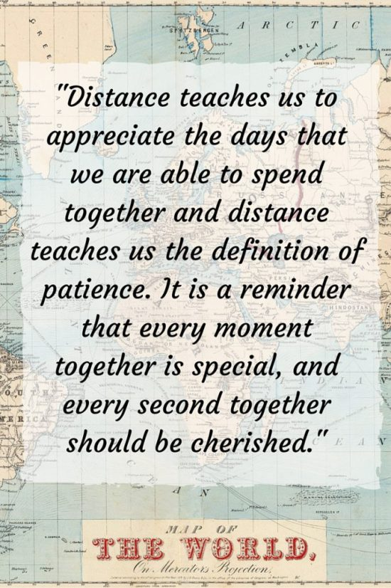 Distance teaches us to appreciate