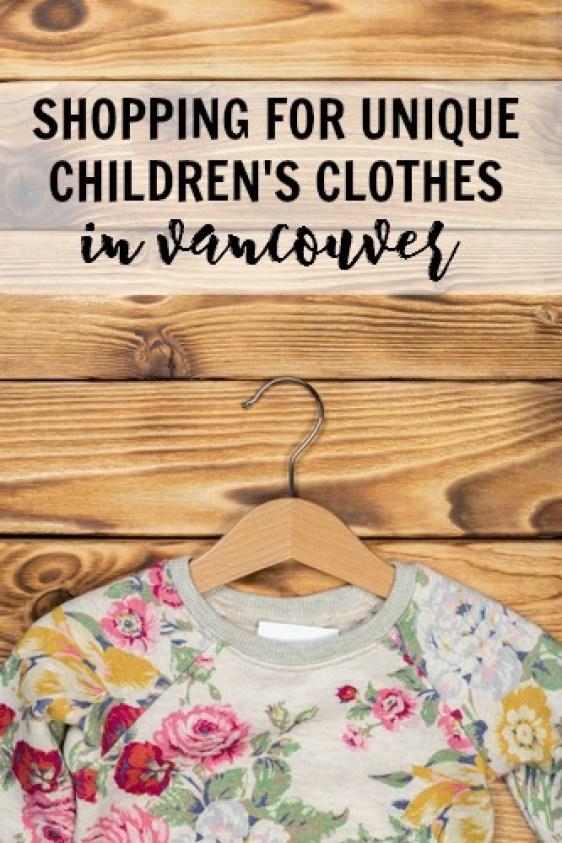Unique children's clothes in Vancouver