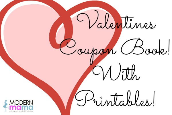 ValentineS Coupon Book  Modern Mama