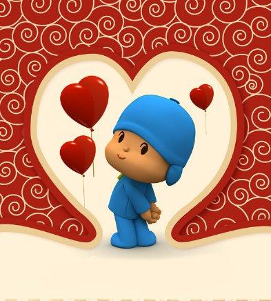 Pocoyo Valentine's Day Card