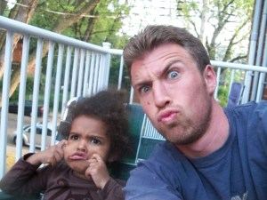 Sasha Making Silly Faces with Daughter