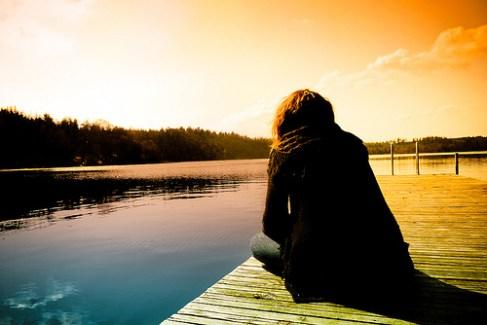Woman Alone by the Lake
