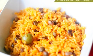 How to Make Puerto Rican Arroz con Gandules in a Rice Cooker (Rice with Pigeon Peas) {Recipe}