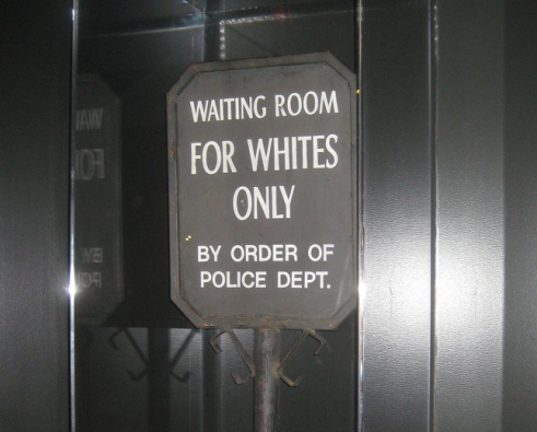 For Whites Only Sign