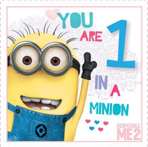 Despicable Me Printable Valentine's Day Cards