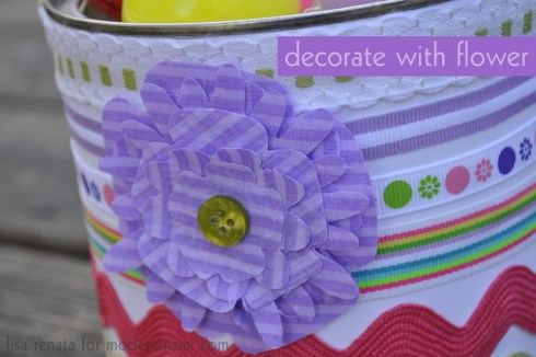Decorate Your Own Easter Basket with a Flower