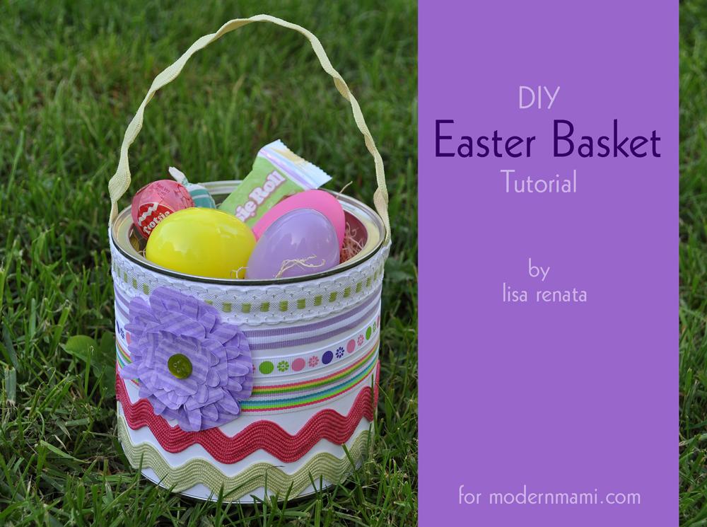 DIY Easter Basket Kids Craft  modernmami