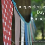 Celebrate 4th of July with this Independence Day Banner! {Kids Craft}