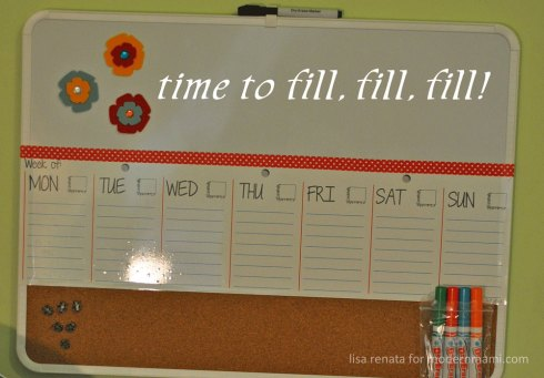 Fill your family's weekly calendar with activities and reminders