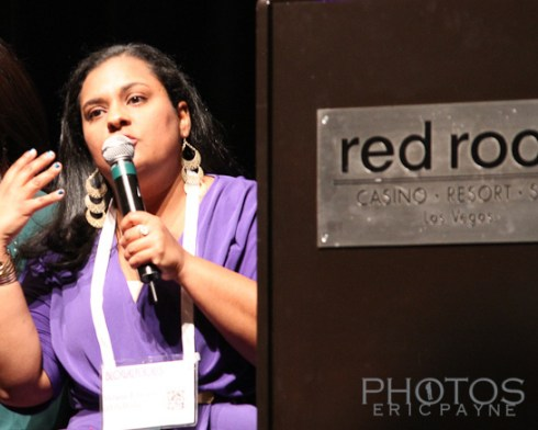 Melanie Edwards from Ella Media and ModernMami.com Speaking at Blogalicious 2012