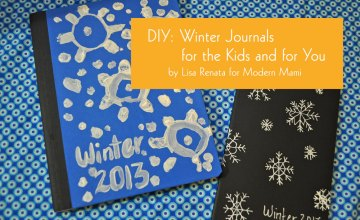Record Winter Memories: DIY Winter Snowflake Journals for You and the Kids {Kids Craft}