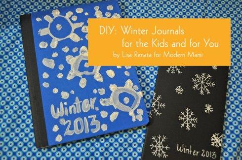 DIY winter snowflake journal