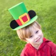 Papercraft de Mickey Leprechaun Hat for St. Patrick's Day. Manualidades a Raudales.